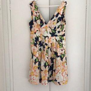Jcrew floral dress size 4 small
